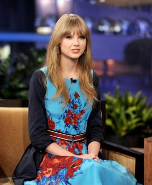 Taylor Swift the Tonight Show with Jay Leno February 20, 2012