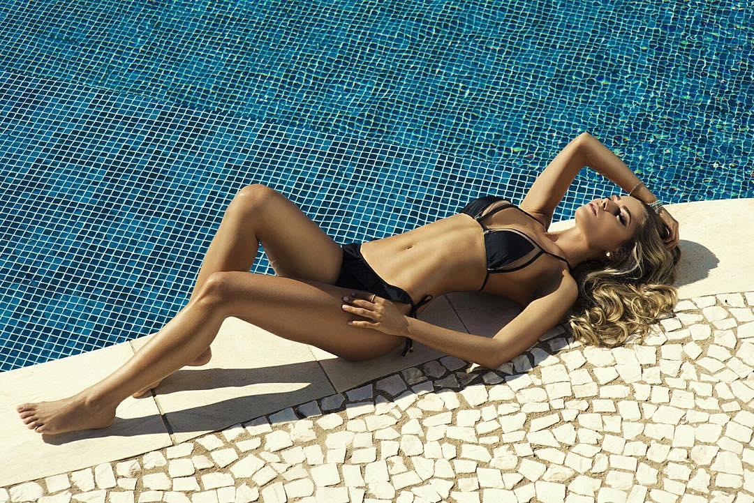 Karina Flores in a bikini