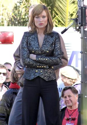 Olivia Wilde on the set of Burt Wonderstone in Las Vegas October 1, 2012