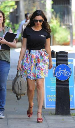 Kelly Brook On set of Taking Stock in London 08.07.13