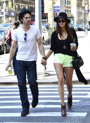 Nina Dobrev out and about in New York City May 13, 2012