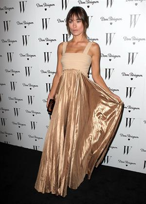 Olivia Wilde W Magazine Golden Globe party at Chateau Marmont on January 14, 2011