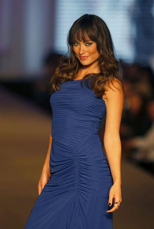 Olivia Wilde wears Hugo Boss at the Fashion Fest Show in Mexico City February 25, 2011