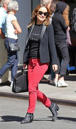 Olivia Wilde at Cafe Gitane in Nolita - September 24, 2012