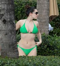 Kelly Brook bikini candids by the pool in Miami 2/1/13