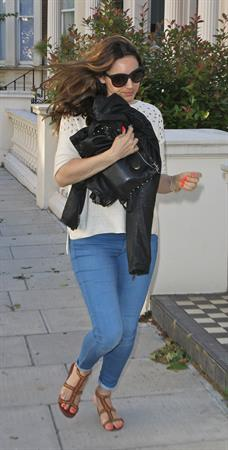 Kelly Brook - At her London Home, June 10, 2012