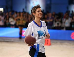 Nina Dobrev DIRECTV'S Celeb Beach Bowl at Mardi Gras World 2/2/13