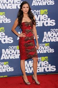 Nina Dobrev 2011 MTV Movie awards in Los Angeles 05-06-11