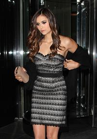 Nina Dobrev leaving her hotel in New York May 17, 2012