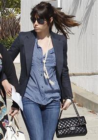 Jessica Biel leaving UCLA Medical Center October 2, 2012