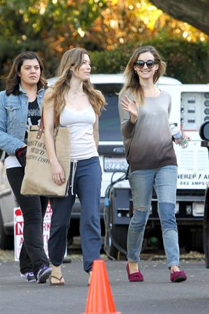 "Jessica Biel – ""Shiva and May"" set candids, LA 10/17/13"