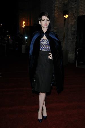 After the Les Miserables premiere, Anne Hathaway at the after-party for the movie at The Roundhouse in Camden, London UK.
