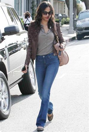 Zoe Saldana after a meeting in Beverly Hills February 23 2011
