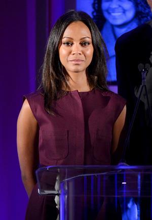 Zoe Saldana attends the Children's Defense Fund's 22nd annual 'Beat the Odds' Awards - December 6-2012