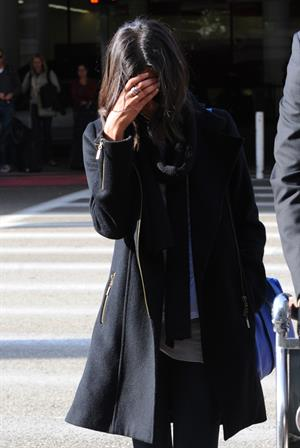 Zoe Saldana arriving into LA Airport - April 4, 2010