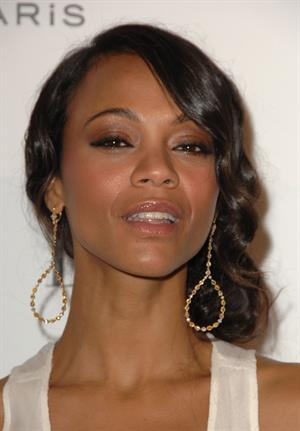 Zoe Saldana arrives for ELLE Magazine 16th Annual Women in Hollywood Tribute Oct 19, 2009
