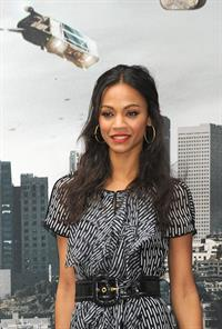 Zoe Saldana at the Star Trek Madrid Photocall