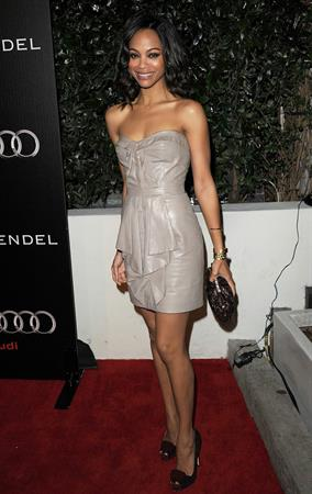Zoe Saldana Audi And J Mendel Celebrate The 2011 Golden Globe Awards in LA January 9, 2011