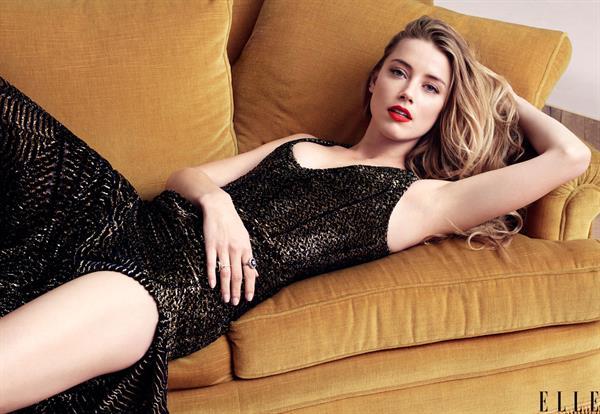 Amber Heard for Elle
