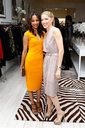 Zoe Saldana Michael Kors Lifestyle Store Opening in Los Angeles November 16, 2011