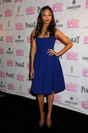 Zoe Saldana 2013 Film Independent Spirit Awards Nominations Press Conference at the W Hollywood on November 27, 2013