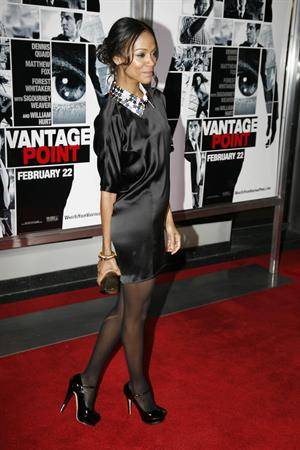 Zoe Saldana - Vantage Point World Premiere 2008