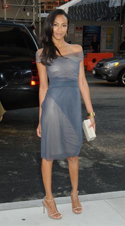 Zoe Saldana at 2009 CFDA Fashion Awards June 15, 2009