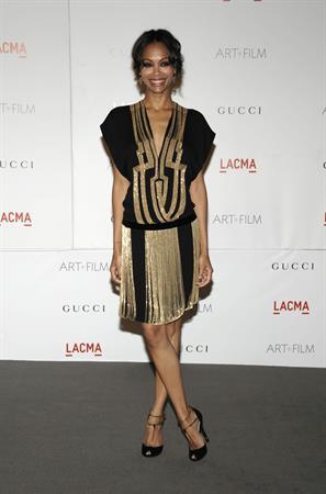 Zoe Saldana at LACMA's Art And Film Gala Honoring Clint Eastwood And John Baldessari in Los Angeles 2011.11.05