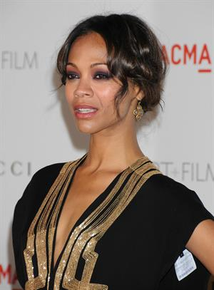 Zoe Saldana at LACMA's Art And Film Gala Honoring Clint Eastwood And John Baldessari in Los Angeles 2011.11.05