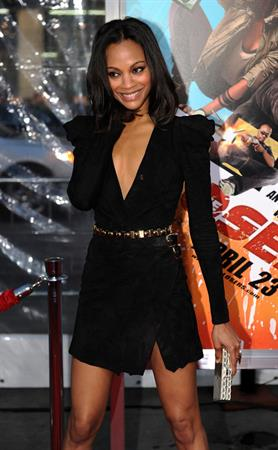 Zoe Saldana  The Losers  premiere April 20