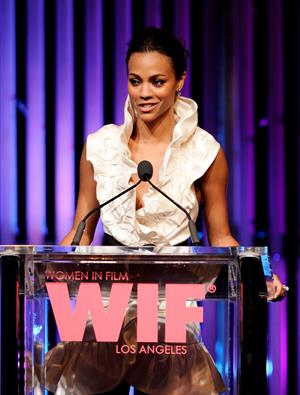 Zoe Saldana - 2010 Women In Film Crystal & Lucy Awards: A New Era - June 1, 2010