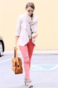 Jessica Alba at her office in Santa Monica on May 25, 2012