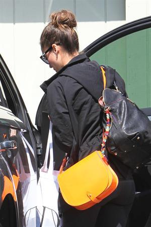 Jessica Alba going to her office in Santa Monica April 4, 2012