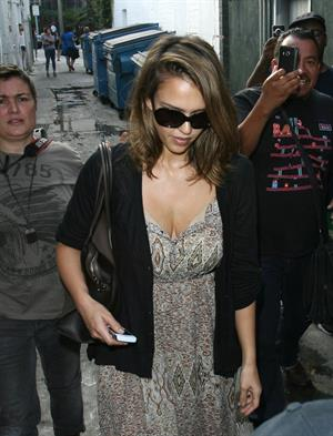Jessica Alba leaving a nail salon in Los Angeles on September 21, 2011