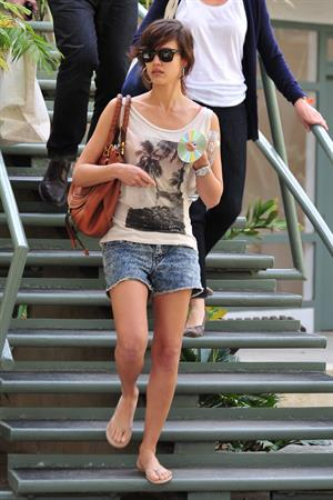 Jessica Alba leaving Caffe Luxxe in Brentwood on March 20, 2010