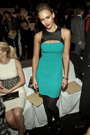 Jessica Alba Michael Kors Fall 2012 fashion show in New York on February 15, 2012