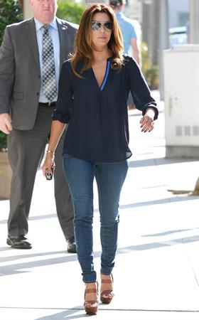 Eva Longoria walking in Beverly Hills 9/13/13
