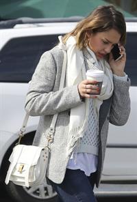 Jessica Alba at her office in Santa Monica 2/8/13