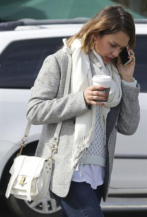 Jessica Alba at her office in Santa Monica 2/8/13