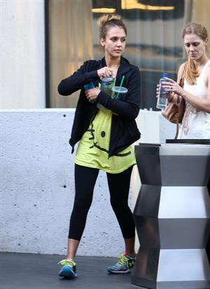 Jessica Alba  at the gym in West Hollywood 9/28/12