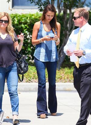Jessica Alba - checked out a new site for her company in Montebello, California July 31, 2012