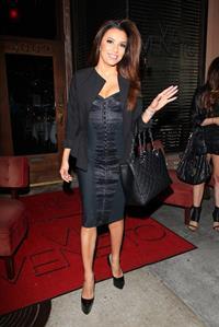 Eva Longoria leaving Via Veneto Italian restaurant in Santa Monica 04/25/13