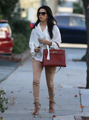 Eva Longoria out and about candids in Los Angeles, January 8, 2013
