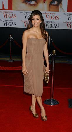 Eva Longoria at the Los Angeles premiere of What Happens in Las Vegas