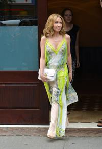 Kylie Minogue walking in New York City