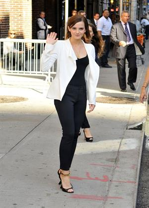 Emma Watson on Letterman - September 5, 2012