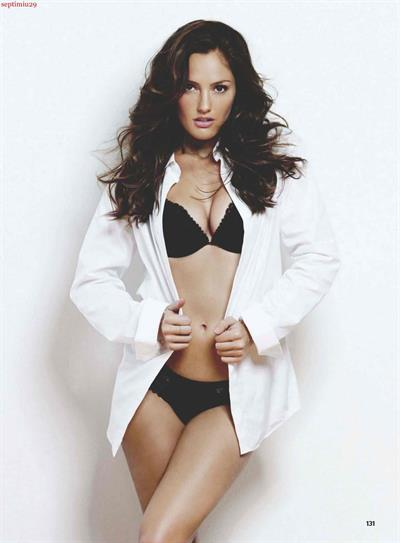 Minka Kelly in lingerie