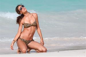 Alessandra Ambrosio shoots for the Victoria Secrets catalog in St Barthelemy July 23, 2010