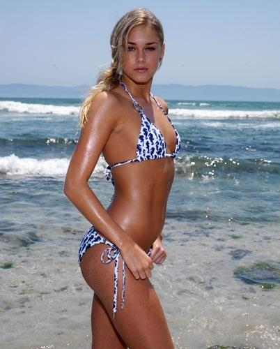 Abigail Klein in a bikini