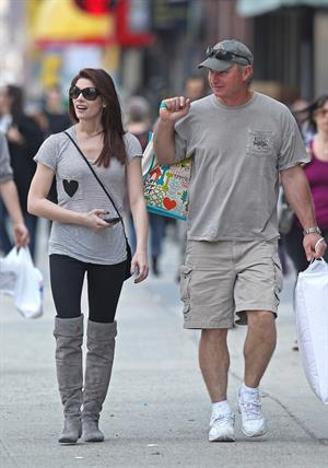 Ashley Greene shopping in New York City on March 18, 2011